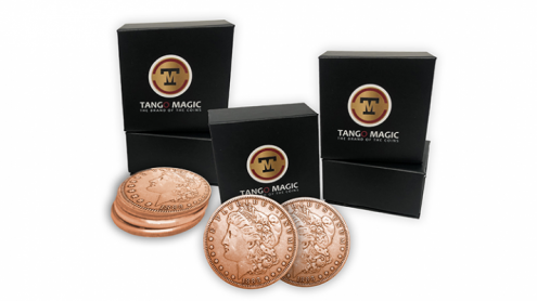 Copper Morgan TUC plus 3 Regular Coins (Gimmicks and Online Instructions) by Tango Magic - Trick