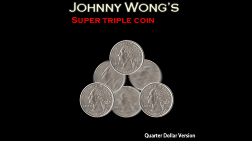 Super Triple Coin QUARTER (with DVD) by Johnny Wong - Trick