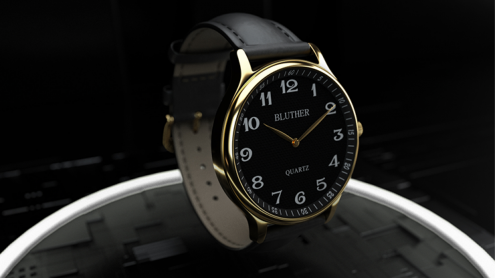 Infinity Watch V3 - Gold Case Black Dial / STD Version (Gimmick and Online Instructions) by Bluether Magic - Trick