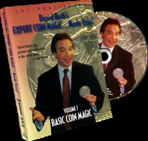 David Roth's Expert Coin Magic Made Easy Vol 1 (Basic) - DVD